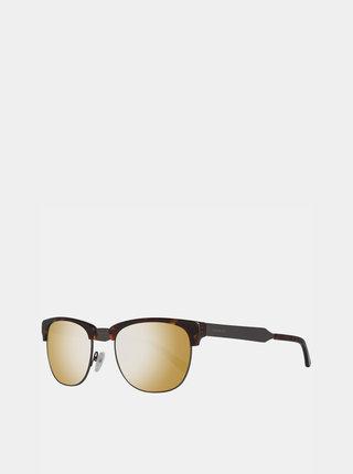 Tmavohnedé vzorované slunečné okuliare GANT
