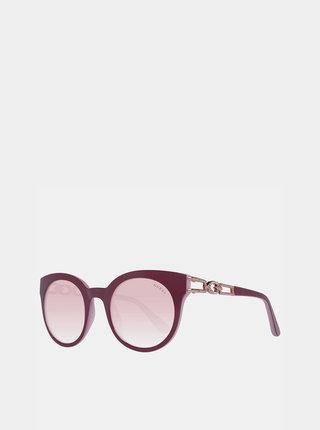 Růžové dámské sluneční brýle Guess