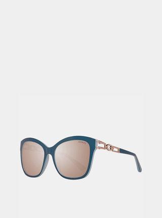 Petrolejové dámské sluneční brýle Guess