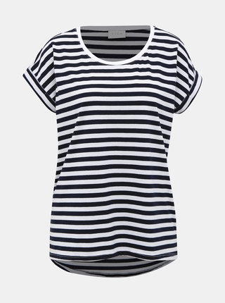 Tmavomodré pruhované basic tričko VILA Dreamers