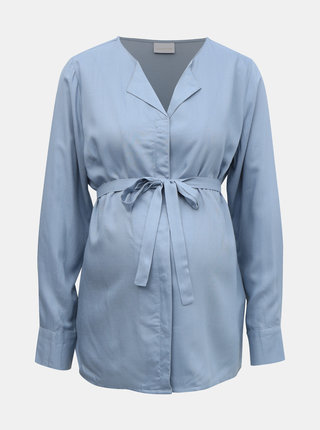 Svetlomodrá tehotenská košeľa Mama.licious Veronika