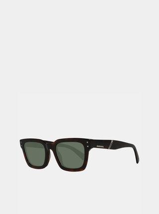 Tmavohnedé slnečné okuliare Diesel