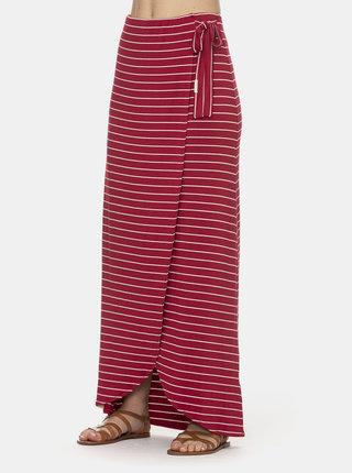 Červená pruhovaná maxi sukňa Ragwear Adelka