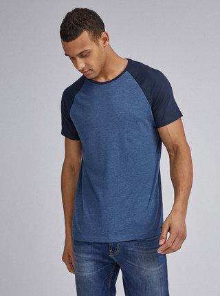 Tmavě modré basic tričko Burton Menswear London