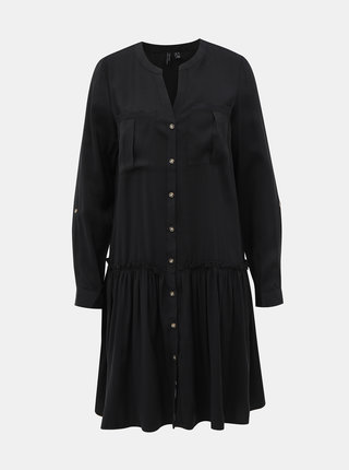 Černé košilové šaty VERO MODA Michalla