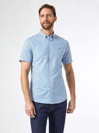 Svetlomodrá kockovaná slim fit košeľa Burton Menswear London