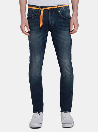 Modré pánske skinny fit rifle Tom Tailor Denim Culver