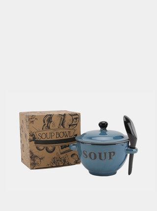 Modrá keramická miska na polévku CGB
