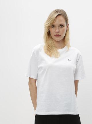 Biele dámske basic tričko Lacoste