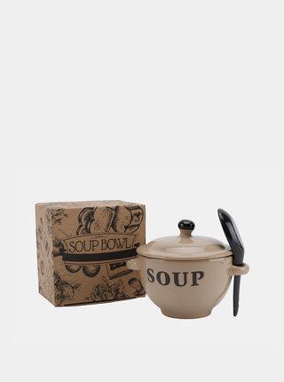 Béžová keramická miska na polévku CGB