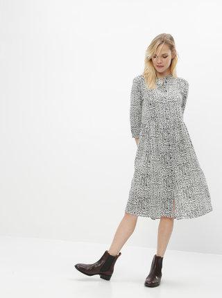 Čierno-biele vzorované košeľové šaty Jacqueline de Yong Monica
