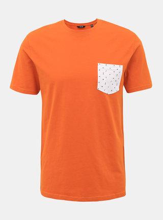 Oranžové tričko ONLY & SONS Novice