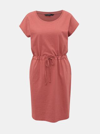 Růžové basic šaty VERO MODA April