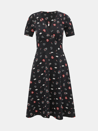 Čierne vzorované šaty Blutsgeschwister