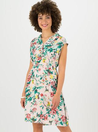 Světle růžové květované šaty Blutsgeschwister