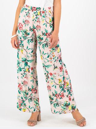 Světle růžové květované kalhoty Blutsgeschwister