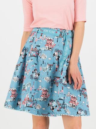Modrá vzorovaná sukňa Blutsgeschwister