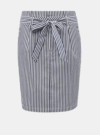 Bílo-modrá pruhovaná sukně VERO MODA Eva