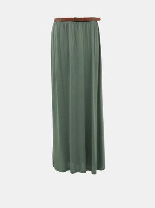 Zelená maxi sukně VERO MODA Linn