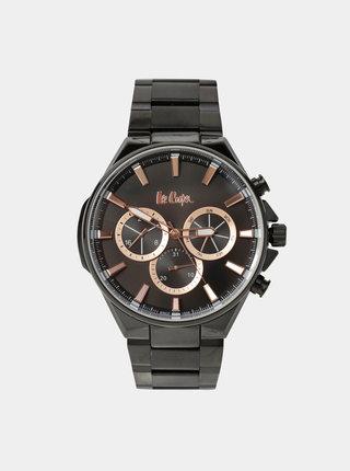 Pánské hodinky s černým nerezovým páskem Lee Cooper