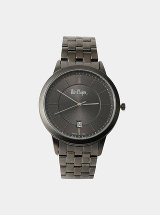 Pánské hodinky s tmavě šedým nerezovým páskem Lee Cooper