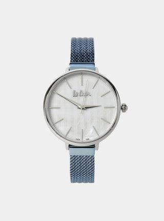 Dámské hodinky s modrým nerezovým páskem Lee Cooper