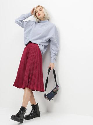 Vínová plisovaná midi sukně ZOOT Kate