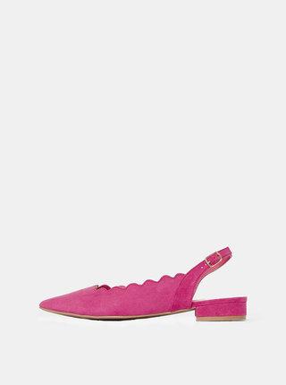 Růžové baleríny v semišové úpravě Dorothy Perkins