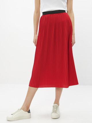 Červená plisovaná midi sukňa Jacqueline de Yong Paris