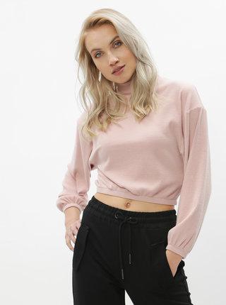 Ružový krátky ľahký sveter TALLY WEiJL Lola