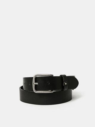 Černý kožený pásek Jack & Jones Clay