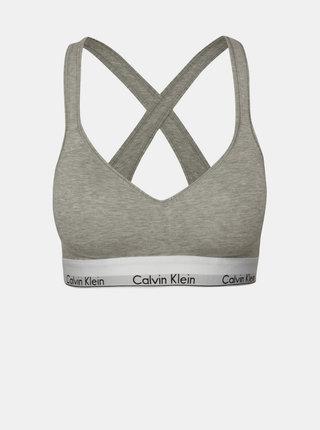 Sivá podprsenka so širokým spodným lemom Calvin Klein Underwear
