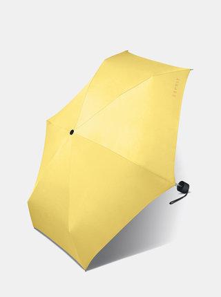 Žlutý dámský skládací deštník Esprit