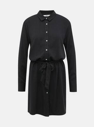 Černé košilové šaty ONLY Alma