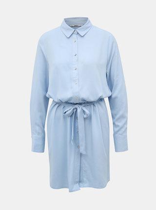 Světle modré košilové šaty ONLY Alma