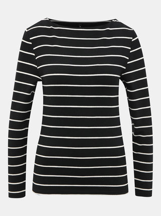 Čierne pruhované basic tričko ONLY Finea