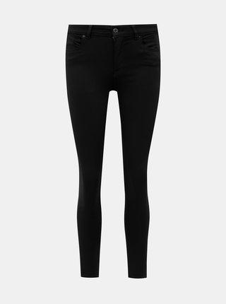 Černé zkrácené skinny fit džíny ONLY Hush