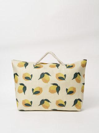 Béžová dámská vzorovaná plážová taška Haily´s Tessa