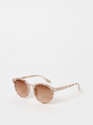 Růžové dámské vzorované sluneční brýle Haily´s Sola