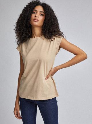 Béžové basic tričko Dorothy Perkins