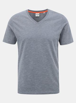 Šedé pruhované basic tričko Jack & Jones Core Strong