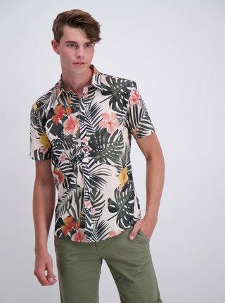 Bielo-zelená vzorovaná košeľa Shine Original
