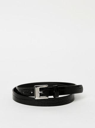 Černý dámský pásek s krokodýlím vzorem Haily´s Ronja