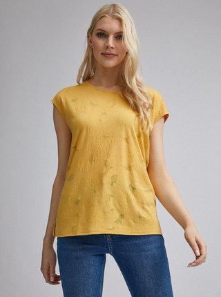 Žlté kvetované tričko Dorothy Perkins