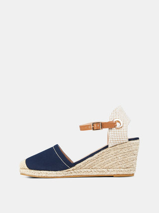 Modré sandálky na klínku Dorothy Perkins