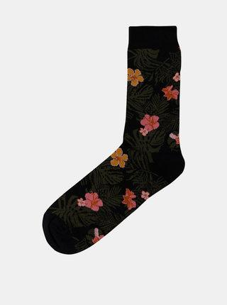 Kaki vzorované ponožky Shine Original