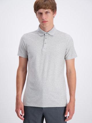 Světle šedé basic polo tričko Lindbergh