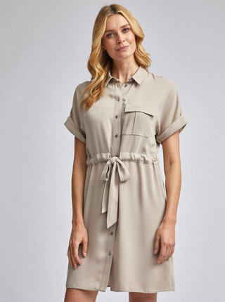 Béžové košeľové šaty Dorothy Perkins