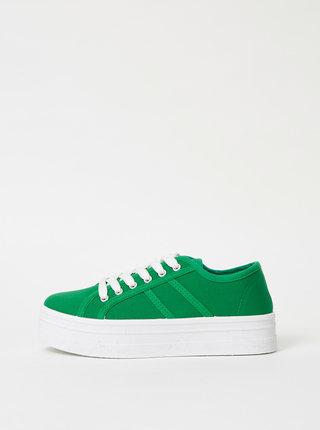 Zelené dámské tenisky na platformě Haily´s Pina