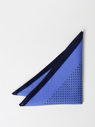 Modrý vzorovaný kapesníček Selected Homme Malek